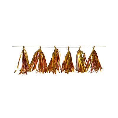 Tassel Garland Gold (Approx. 19Cm) & 2.5M Thread- 12Pc