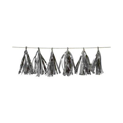 Tassel Garland Silver (Approx. 19Cm) & 2.5M Thread- 12Pc