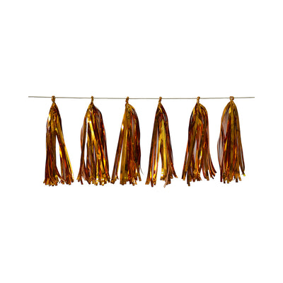 Tassel Garland Gold (Approx. 30Cm) & 2.5M Thread- 12Pc