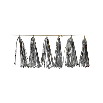 Tassel Garland Silver (Approx. 30Cm) & 2.5M Thread- 12Pc