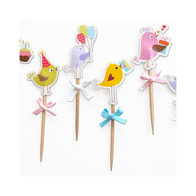Cupcake Toppers - Bird Party 20Pc