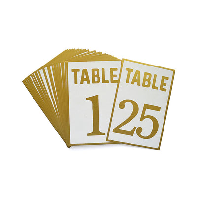 Table Numbers 4`` X 6`` Gold- 1 To 25Pc