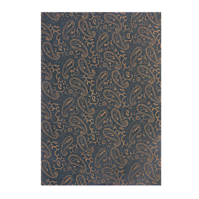 Pattern Paper A4 size, 1 sheet- Paisley , Forest Green