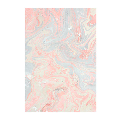 Marbled Paper - Shimmer Coral A4, 1 Sheet