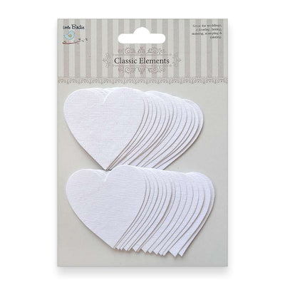 Heart Tags - Classic White 30pcs