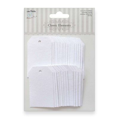 Traditional Tags - Classic White 30pcs