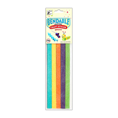 Glitter Bendable Craft Sticks Bright -1.5x30.5cm, 10pcs