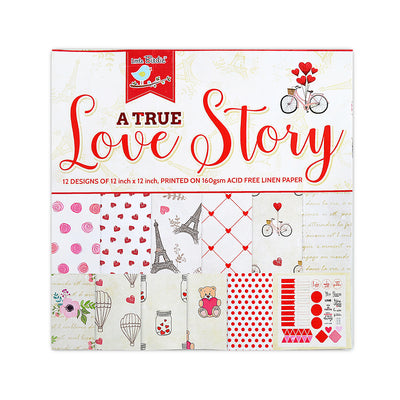 A True Love Story Paper Pack 12X12 inch, 12sheets