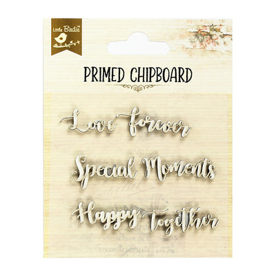 Primed Chipboard- Happy Together