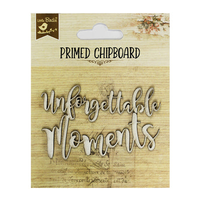 Primed Chipboard- Unforgettable Moments
