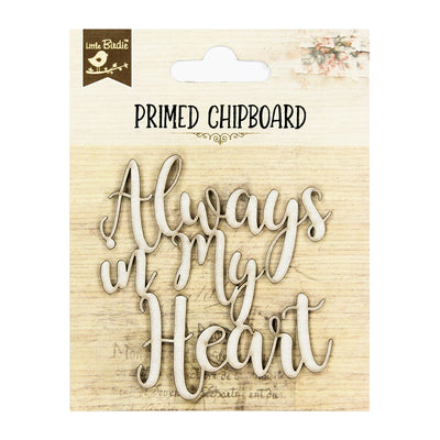 Primed Chipboard- In My Heart