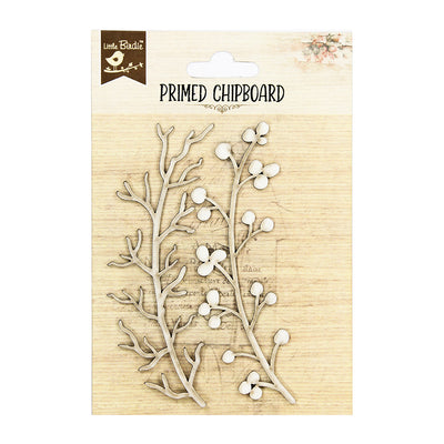 Primed Chipboard- Winter Berry, 2 Pc