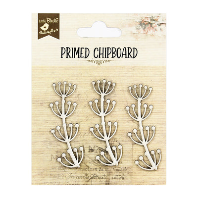 Primed Chipboard- Thriving Thistle, 3Pc