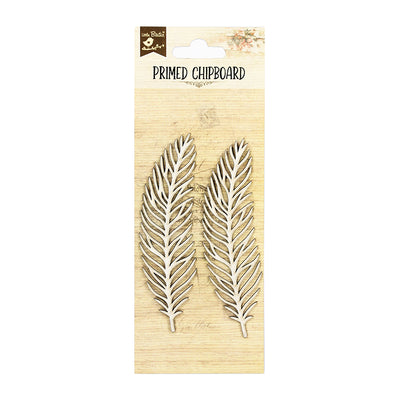 Primed Chipboard- Feathers