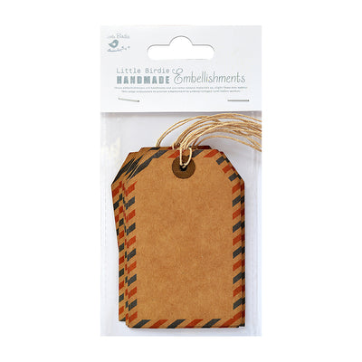 Air Mail Kraft Tags-7pcs