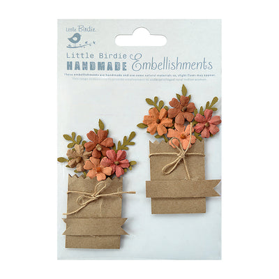 Sticker Self-adhesive - Flowerful Paper Bag,2pcs