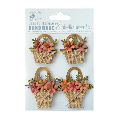 Sticker Self-adhesive  - Flower Baskets 4pcs