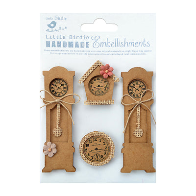 Sticker Self-adhesive  - Vintage Clocks,4pcs