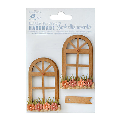 Sticker Self-adhesive  - Arch Window Garden,3pcs