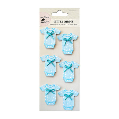 Sticker Self- adhesive  - Baby Onesies, Blue,6pcs