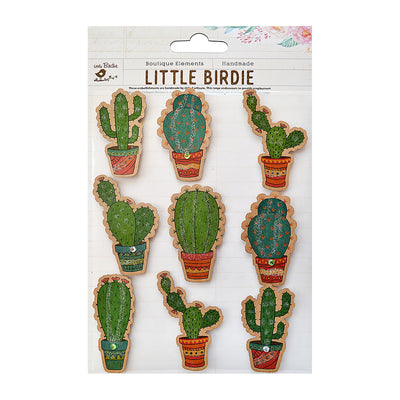 Sticker self- adhesive  - Kraft Printed Cactus