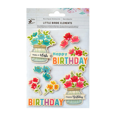 Sticker self- adhesive  - Birthday Blooms,8pcs