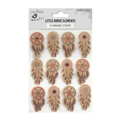 Sticker self- adhesive  -  Dream Catcher,12pcs