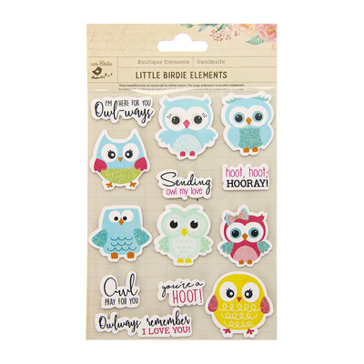 Sticker Self- adhesive  - Owl My Love,13pcs