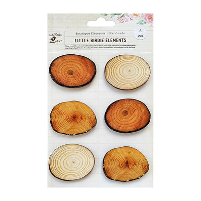 Sticker Self- adhesive  - Round Bark Token,6pcs