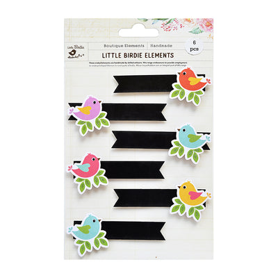 Sticker Self- adhesive  - Birds, Chalk Banner,6pcs