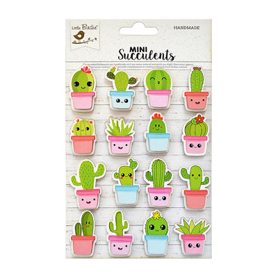 Self-adhesive Embellishments - Cacti Expressions, 5Pc