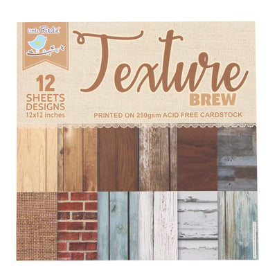 Texture Brew  Paper Pack 12X12 inch, 12sheets