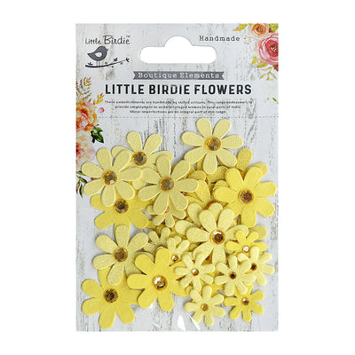 Sparkle Handmade Flowers - Jewelled Florettes, Bumble Bee, 32pc