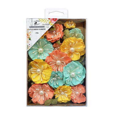Sparkle Handmade Flowers - Margery, Pastel Palette, 24pc