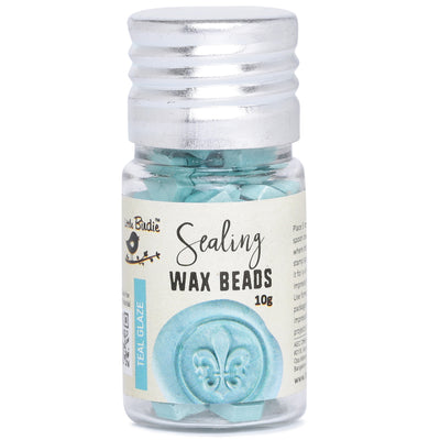 Sealing Wax Beads - Teal Glaze, 10g, 1 bottle