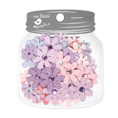 Handmade Flower Sparkle Florettes, Fairy Sparkle - 60pc