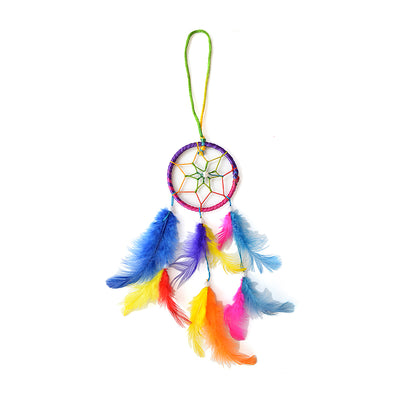 Dream Catcher Magnificence - Small Dia 3inch, Multicoloured, 1pc