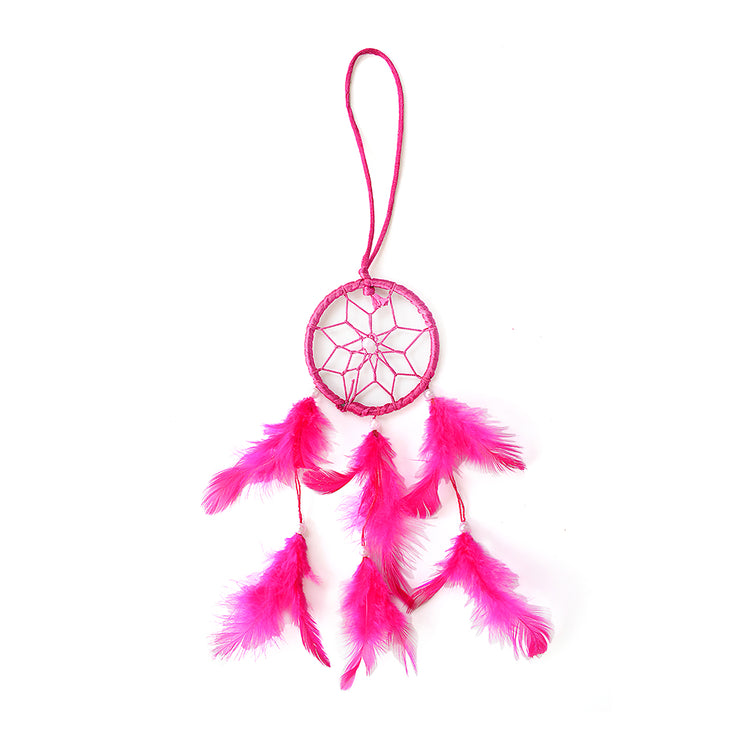 Dream Catcher Magnificence - Small Dia 3inch, Pink, 1pc