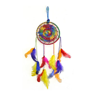 Dream Catcher Splendour - Medium Dia 4inch, Multicoloured, 1pc