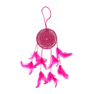 Dream Catcher Splendour - Medium Dia 4inch, Pink, 1pc