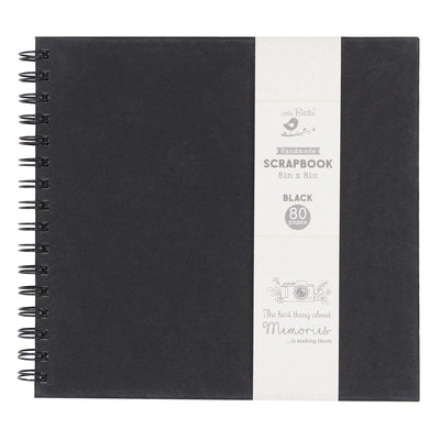 Scrapbook Album 8 x 8 inch - Black, 40 Sheets