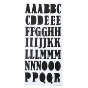 Chunky Alphabet & Numbers - Black, 2 sheets