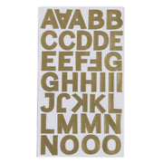 Metallic Alphabet & Numbers - Lime Shine, 4 sheets