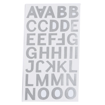 Metallic Alphabet & Numbers - Cadby, 4 sheets