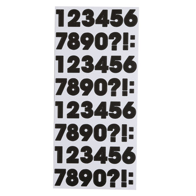 Printed Alphabet and Numbers -  Black Block, 4 Sheet
