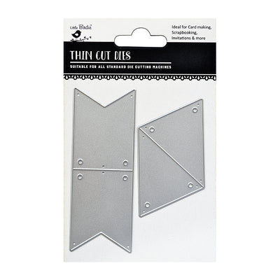 Thin Cut Dies- Mini Banner, 2Pc