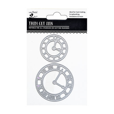 Thin Cut Dies- Timekeeper, 2Pc