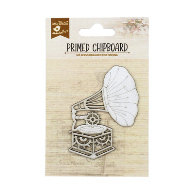 Primed Chipboard- Grunge Gramophone, 1pc