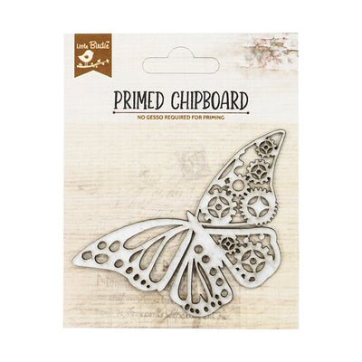 Primed Chipboard- Cog Butterfly, 1pc