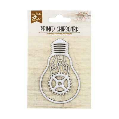 Primed Chipboard- Cog Glow, 1pc